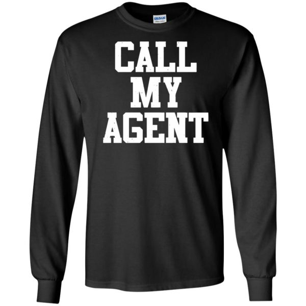 call my agent long sleeve - black