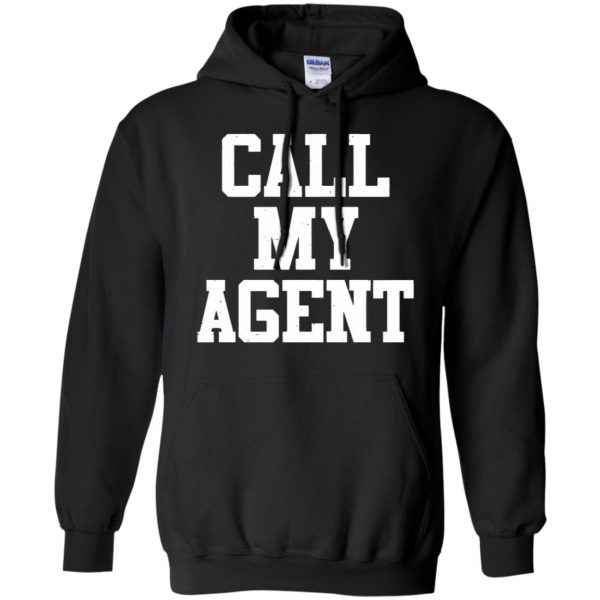 call my agent hoodie - black