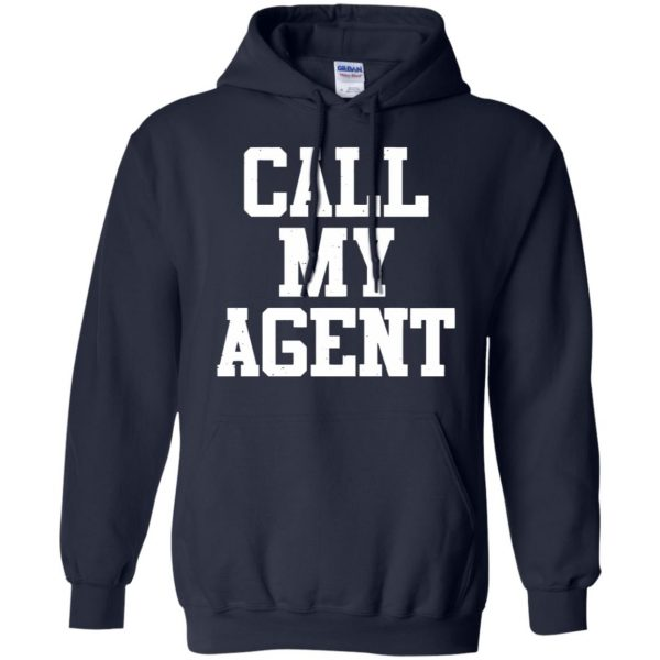 call my agent hoodie - navy blue