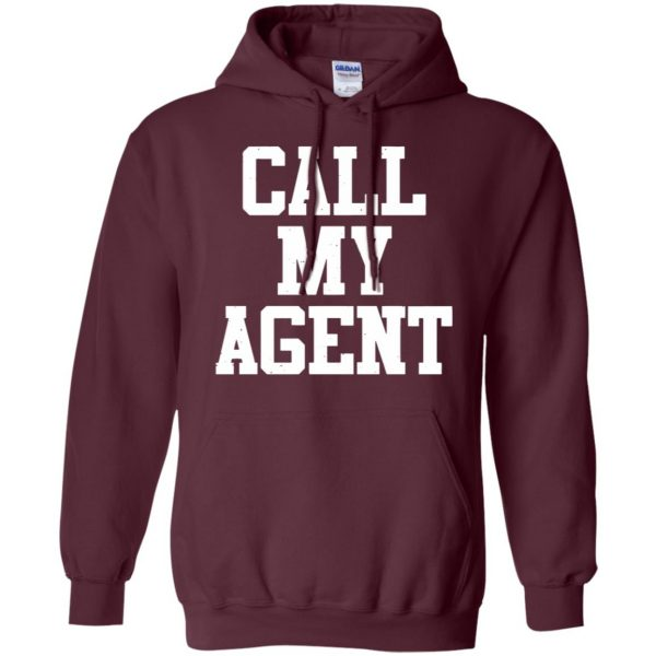 call my agent hoodie - maroon