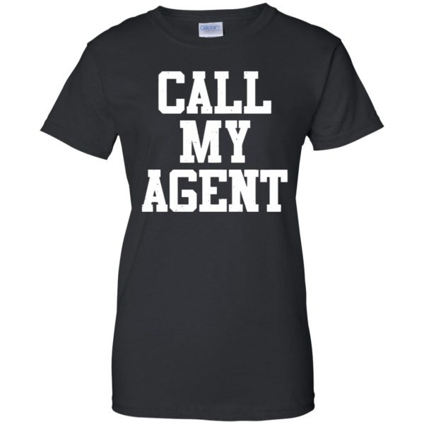 call my agent womens t shirt - lady t shirt - black