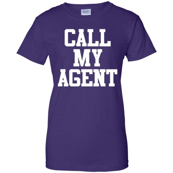 call my agent womens t shirt - lady t shirt - purple