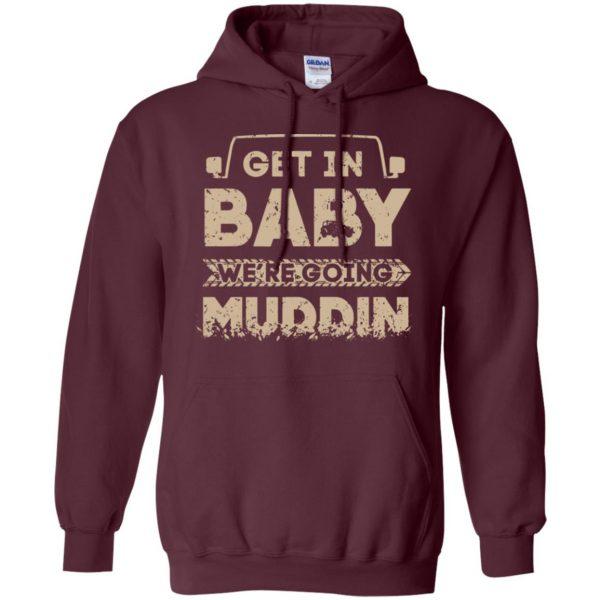 muddin hoodie - maroon