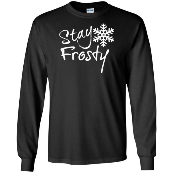 stay frosty long sleeve - black