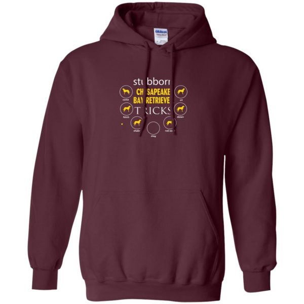 chesapeake bay retriever hoodie - maroon