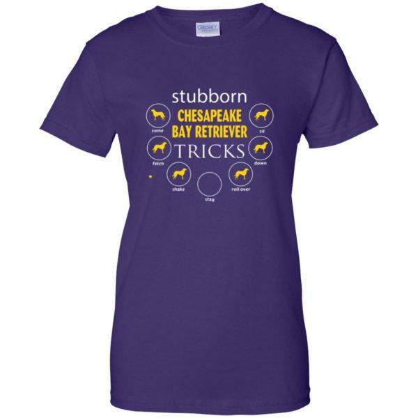 chesapeake bay retriever womens t shirt - lady t shirt - purple