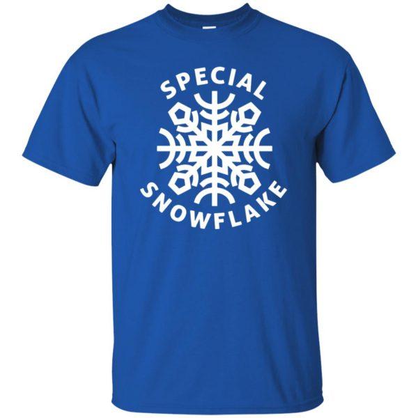 special snowflake t shirt - royal blue