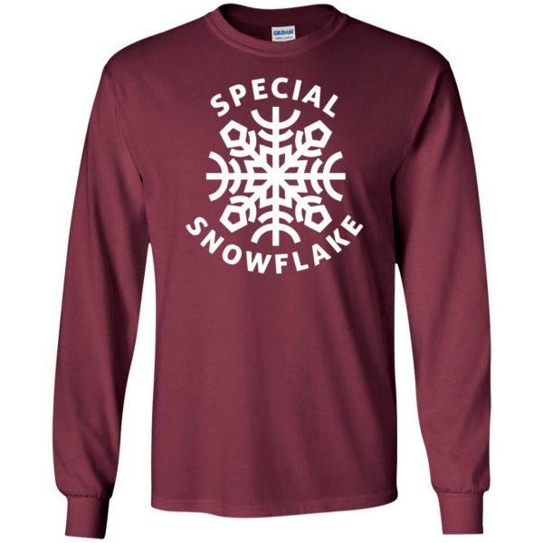 special snowflake long sleeve - maroon