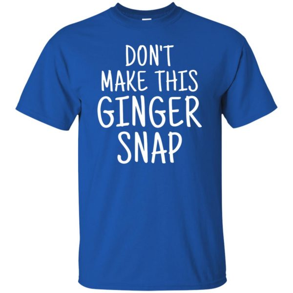 ginger snap t shirt - royal blue