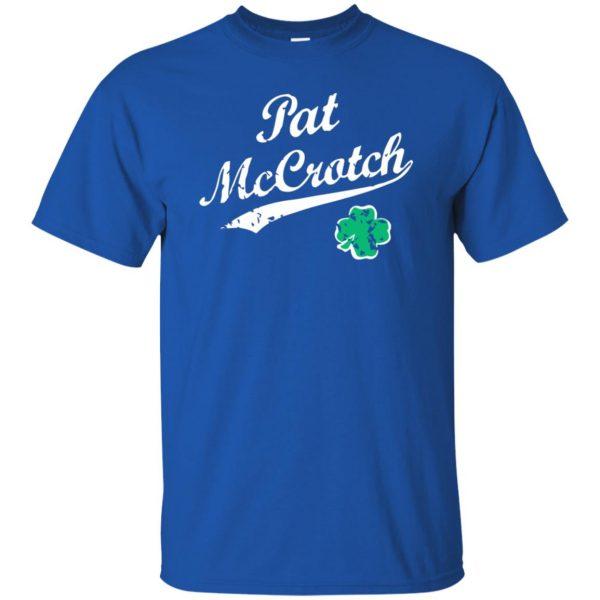 pat mccrotch t shirt - royal blue