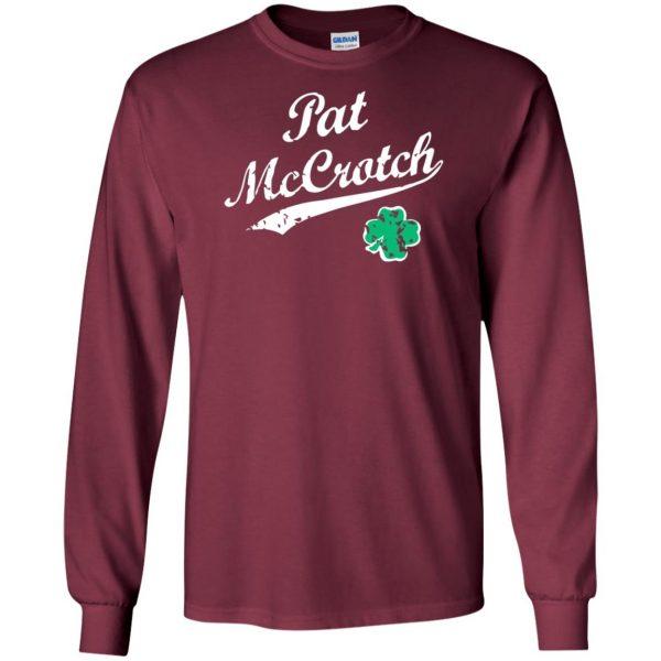 pat mccrotch long sleeve - maroon