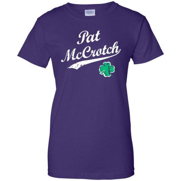 pat mccrotch womens t shirt - lady t shirt - purple