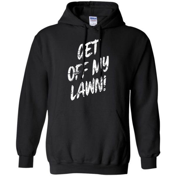 get off my lawn hoodie - black