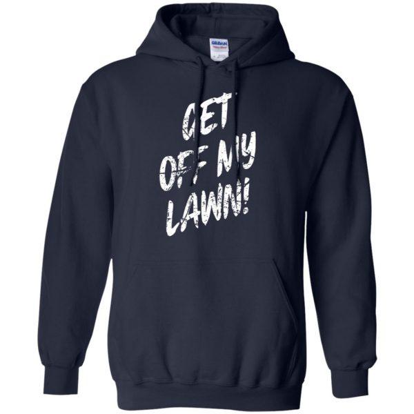 get off my lawn hoodie - navy blue