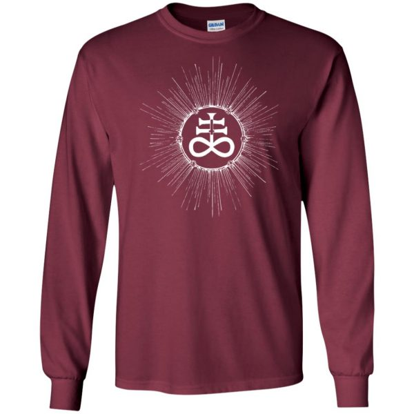 leviathan cross long sleeve - maroon
