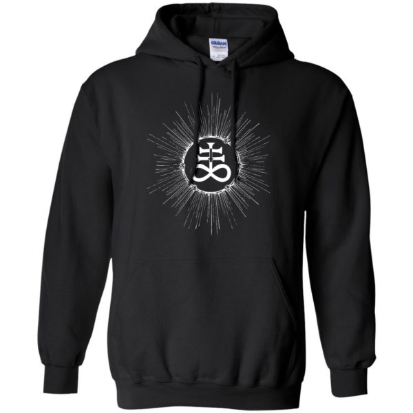 leviathan cross hoodie - black