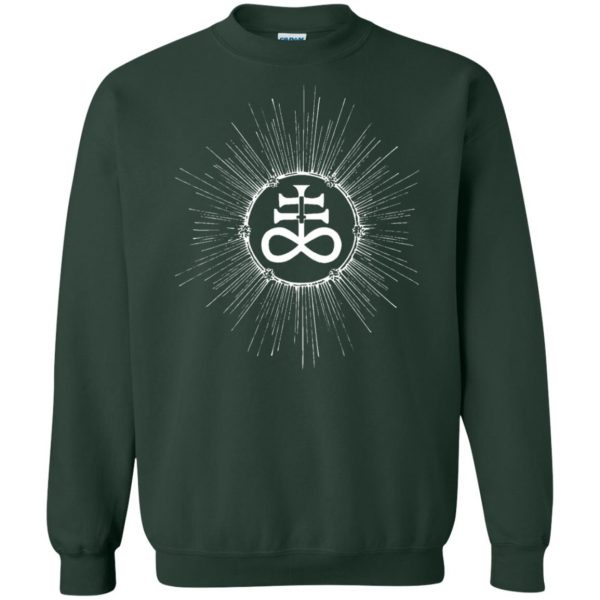 leviathan cross sweatshirt - forest green