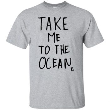 take me to the ocean shirt - sport grey