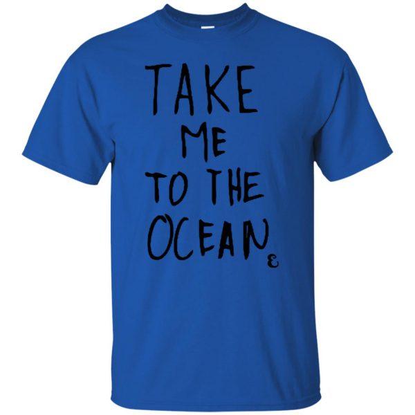 take me to the ocean t shirt - royal blue