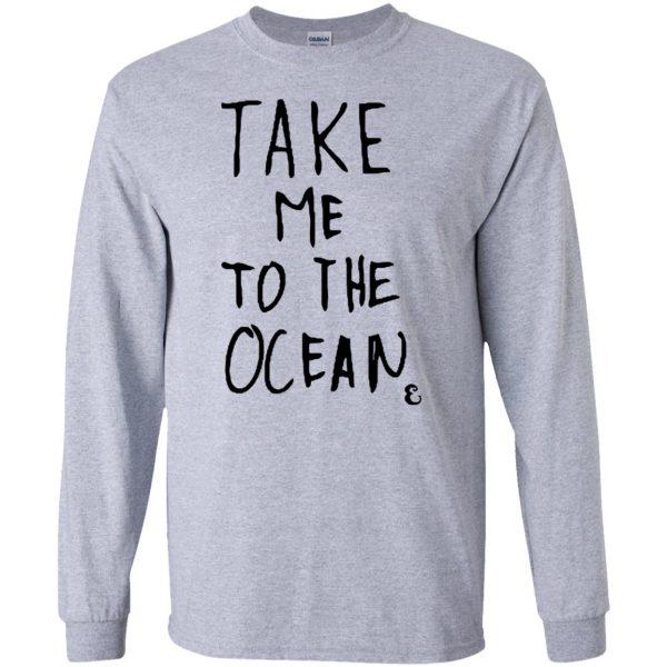 take me to the ocean long sleeve - sport grey