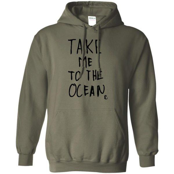 take me to the ocean hoodie - military green