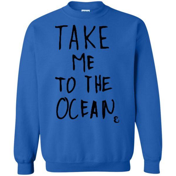 take me to the ocean sweatshirt - royal blue