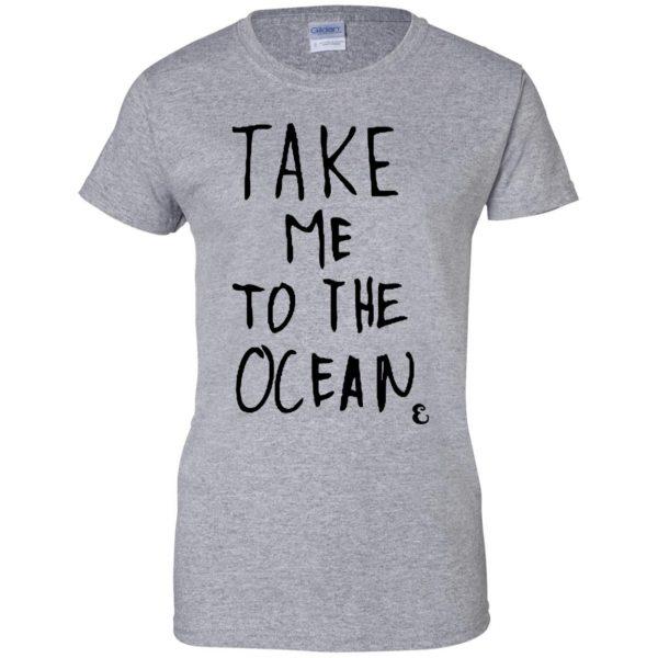 take me to the ocean womens t shirt - lady t shirt - sport grey