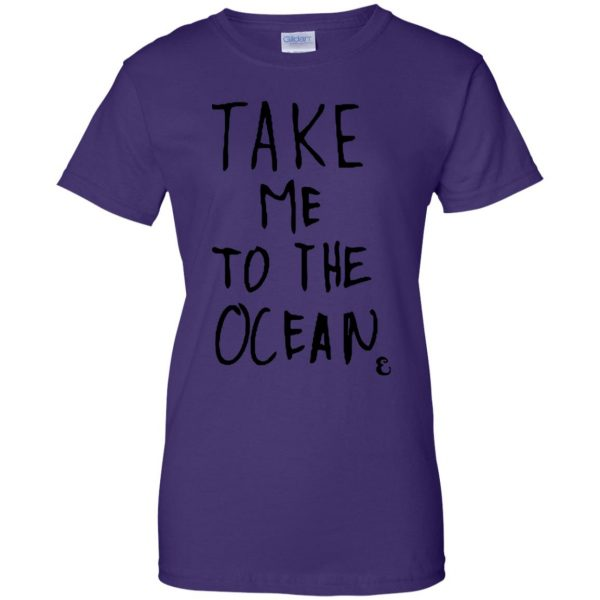 take me to the ocean womens t shirt - lady t shirt - purple