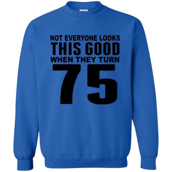 75th birthday sweatshirt - royal blue