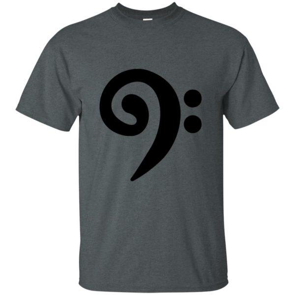 bass clef t shirt - dark heather