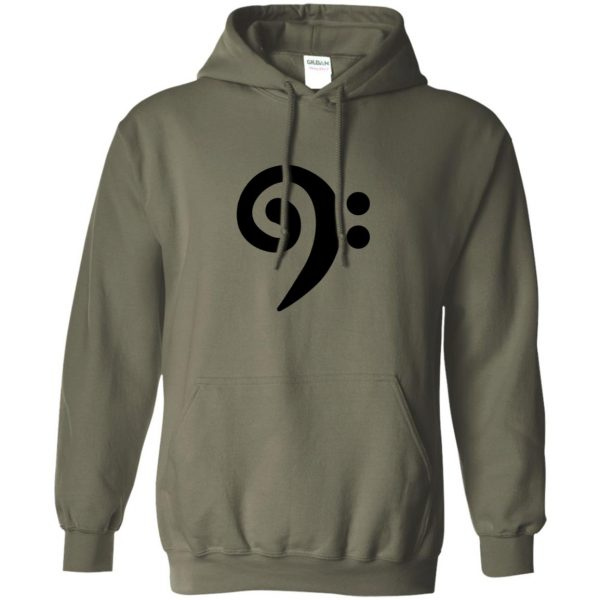 bass clef hoodie - military green
