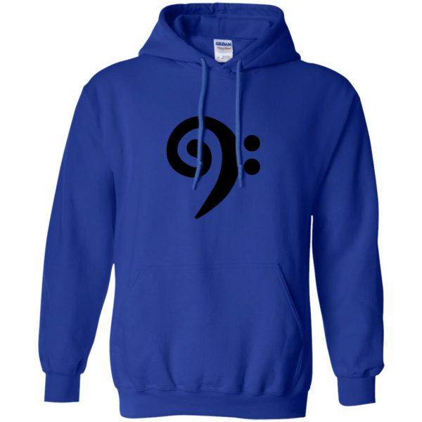 bass clef hoodie - royal blue
