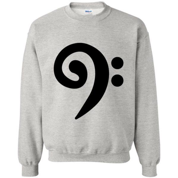 bass clef sweatshirt - ash