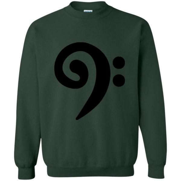 bass clef sweatshirt - forest green