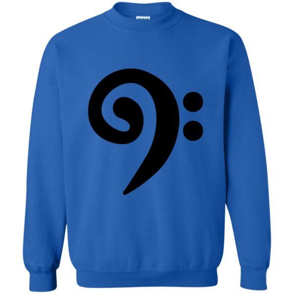 bass clef sweatshirt - royal blue