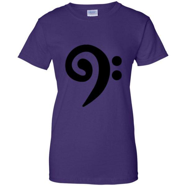 bass clef womens t shirt - lady t shirt - purple