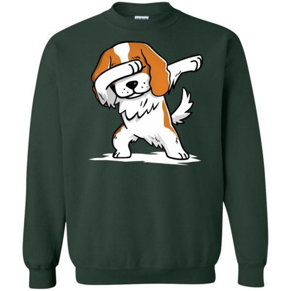 cavalier king charles sweatshirt - forest green
