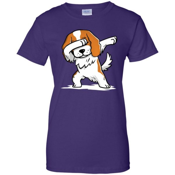 cavalier king charles womens t shirt - lady t shirt - purple