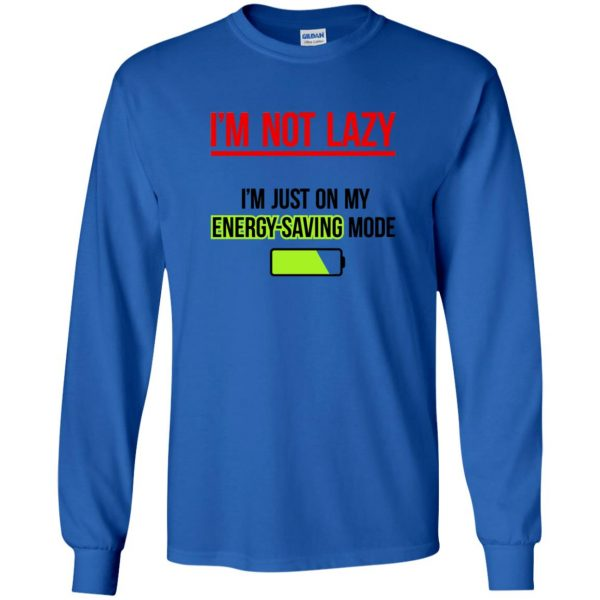 im not lazy long sleeve - royal blue