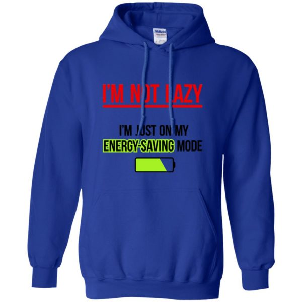im not lazy hoodie - royal blue