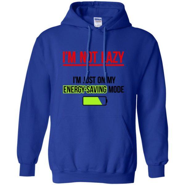 im not lazy hoodie - royal blue