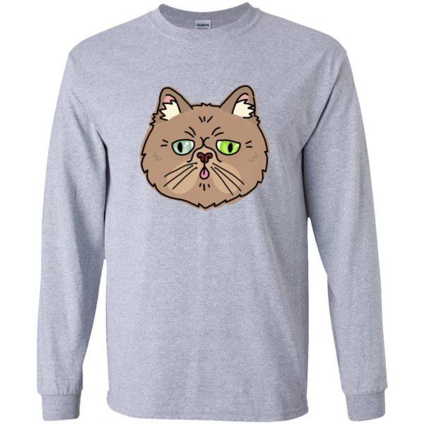 persian cat long sleeve - sport grey