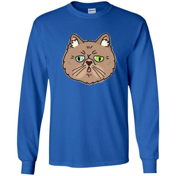 persian cat long sleeve - royal blue