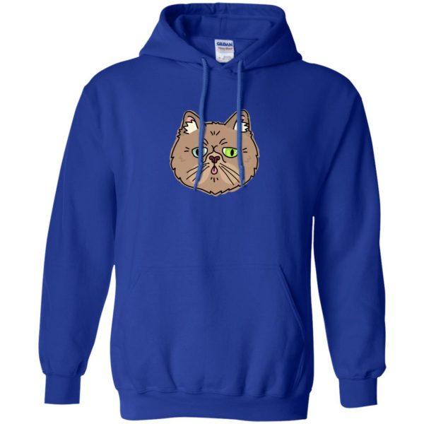 persian cat hoodie - royal blue
