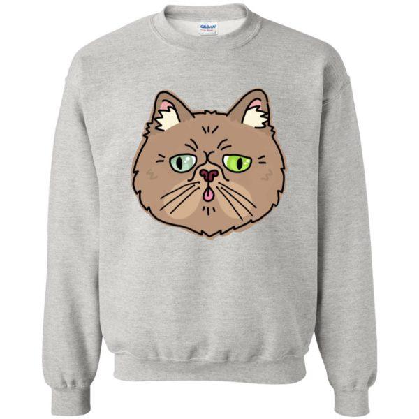 persian cat sweatshirt - ash
