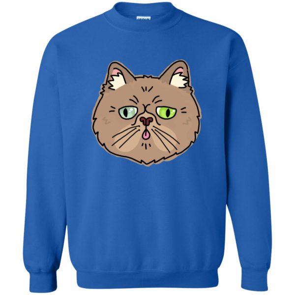 persian cat sweatshirt - royal blue