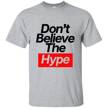 believe the hype shirt - sport grey
