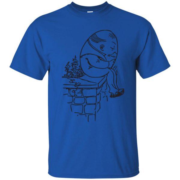 humpty dumpty t shirt - royal blue