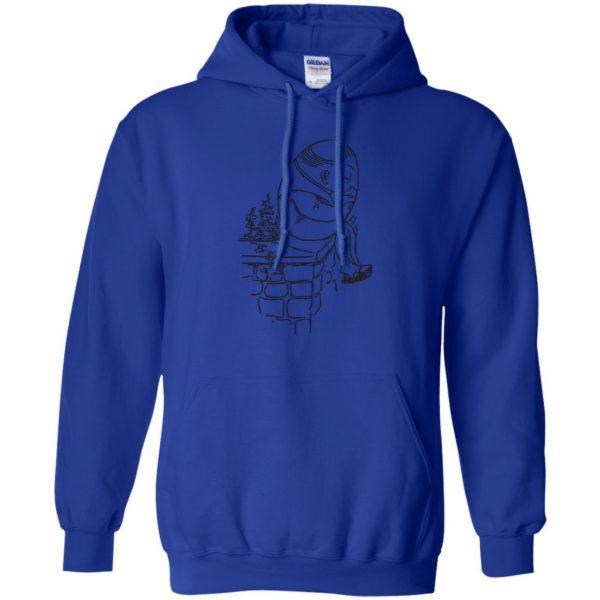 humpty dumpty hoodie - royal blue