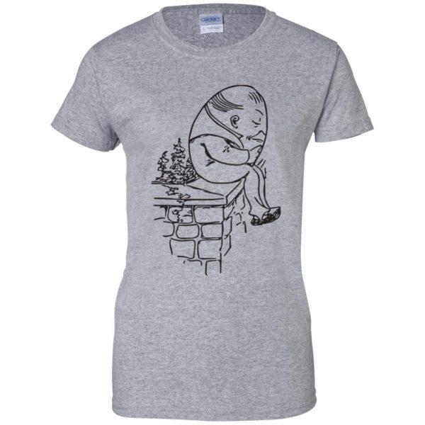 humpty dumpty womens t shirt - lady t shirt - sport grey